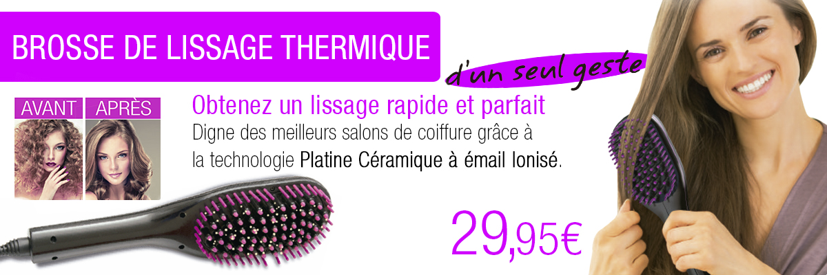 Brosse de Lissage Thermique France Direct Shop